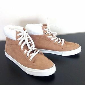 NWT Old Navy High Top Sneakers Caramel Size 6